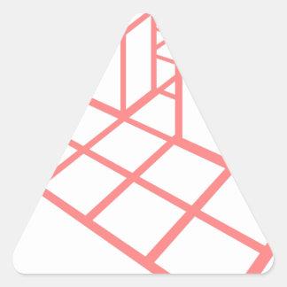 Sticker Triangulaire Croissance de diagramme