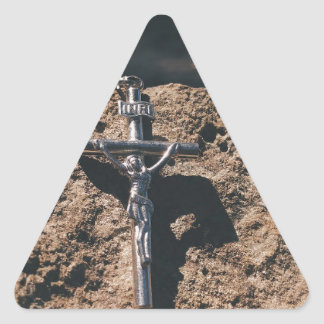 Sticker Triangulaire croix et sable
