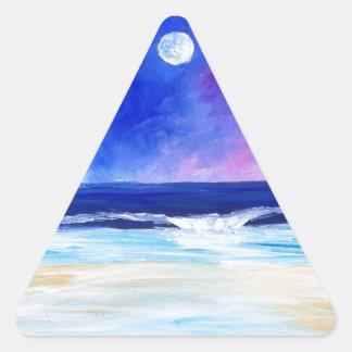 Sticker Triangulaire Danse pour la déclaration réfléchie d'art de lune