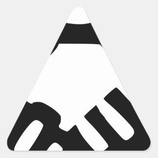 Sticker Triangulaire De pair