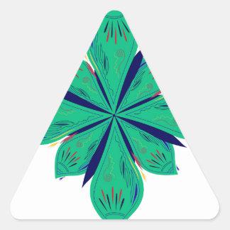 Sticker Triangulaire Deco vert d'Ethno de mandala