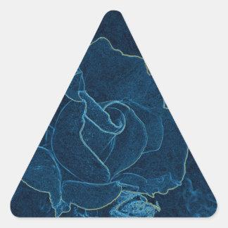 Sticker Triangulaire découpe de rose de bleu