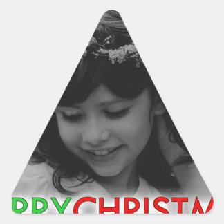 Sticker Triangulaire Demoiselle de honneur de jeunes de Joyeux Noël