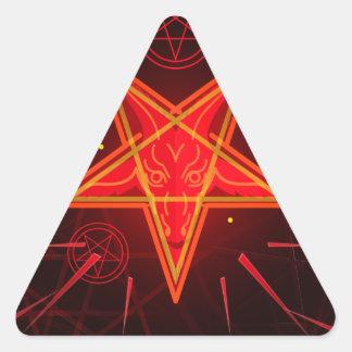 Sticker Triangulaire démon au néon
