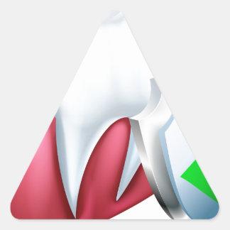 Sticker Triangulaire Dent et gomme de bouclier