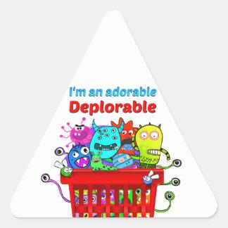 Sticker Triangulaire Déplorable adorable, panier de Deplorables
