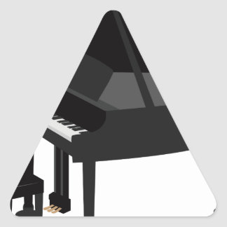 Sticker Triangulaire Dessin de piano à queue