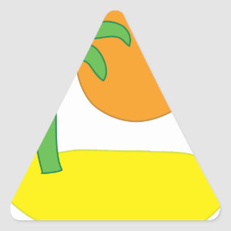 Sticker Triangulaire Dessin d'île