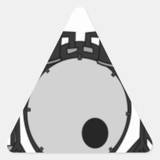 Sticker Triangulaire Dessin réglé de tambour