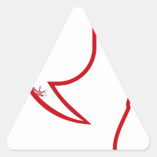 Sticker Triangulaire Dire du père noël