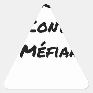 Sticker Triangulaire DIRTY, LE CONTRAT DE MÉFIANCE - Jeux de mots