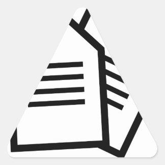 Sticker Triangulaire Documents sur papier