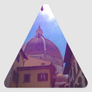 Sticker Triangulaire Dôme de Brunelleschi à Florence, Italie