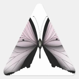 Sticker Triangulaire Domestique rose de marais de papillon rose
