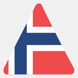 Sticker Triangulaire Drapeau de la Norvège