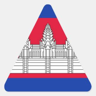 Sticker Triangulaire Drapeau du Cambodge