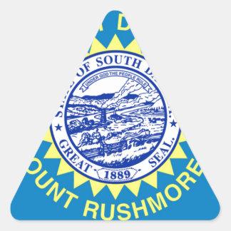Sticker Triangulaire Drapeau du Dakota du Sud