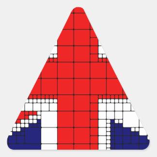 Sticker Triangulaire Drapeau R-U de cric des syndicats patriotique