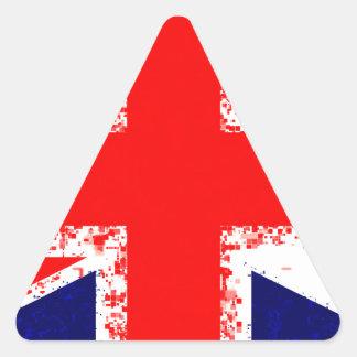 Sticker Triangulaire Drapeau R-U de Londres de cric des syndicats