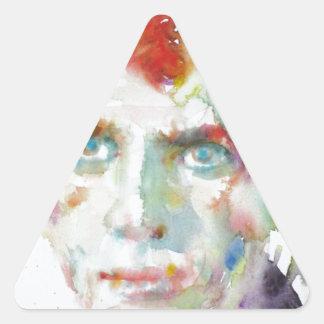 Sticker Triangulaire Dylan Thomas - aquarelle portrait.1