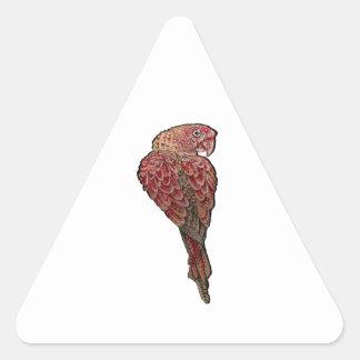 Sticker Triangulaire Écarlate rouge
