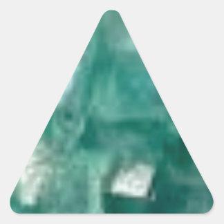 Sticker Triangulaire éclat vert des bijoux