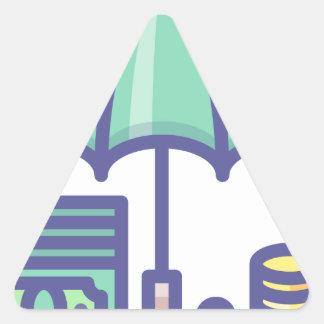Sticker Triangulaire Économiser pendant un jour de pluie