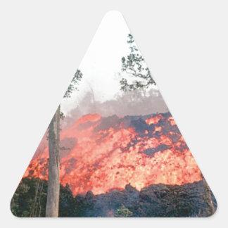 Sticker Triangulaire écoulement de fonte du feu