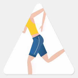 Sticker Triangulaire Édition courante de fille