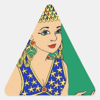 Sticker Triangulaire Égyptien