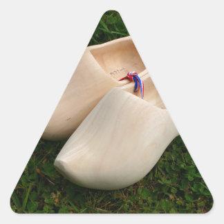 Sticker Triangulaire Entraves en bois néerlandaises