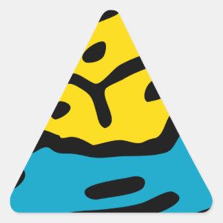 Sticker Triangulaire Éponge de trempage