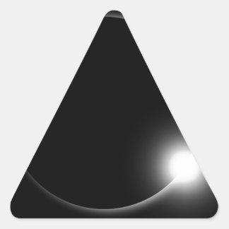 Sticker Triangulaire Éruption chromosphérique de fusée de Sun d'éclipse