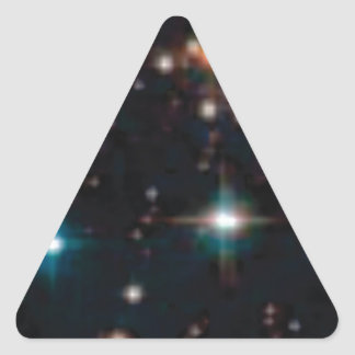 Sticker Triangulaire espace lointain