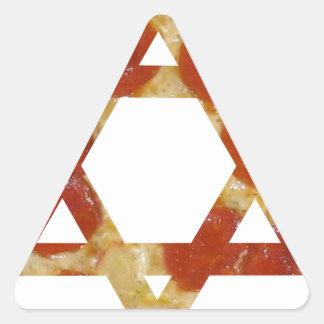 Sticker Triangulaire étoile de David de pizza