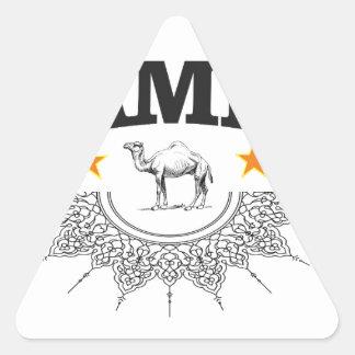 Sticker Triangulaire étoiles du chameau