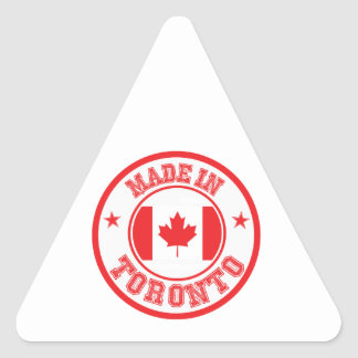 Sticker Triangulaire Fait à Toronto
