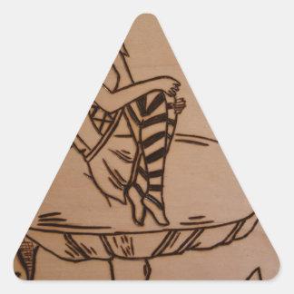 Sticker Triangulaire Fée sur un champignon