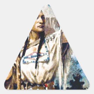 Sticker Triangulaire femme indienne de squaw