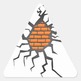 Sticker Triangulaire fente