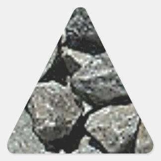 Sticker Triangulaire fermez-vous du gravier