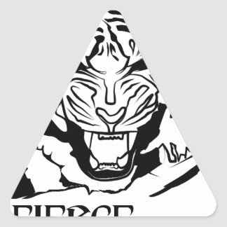 Sticker Triangulaire féroce