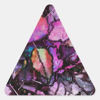 Sticker Triangulaire Feuille