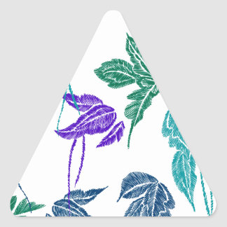 Sticker Triangulaire Feuille tropical