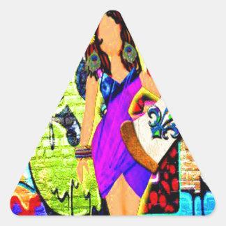 Sticker Triangulaire Fille de Calliope