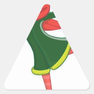 Sticker Triangulaire Fille de patinage de glace