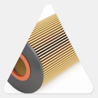 Sticker Triangulaire Filtre à huile des véhicules à moteur