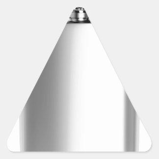 Sticker Triangulaire Flacon de hanche d'acier inoxydable