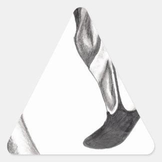 Sticker Triangulaire Flamant de fantaisie