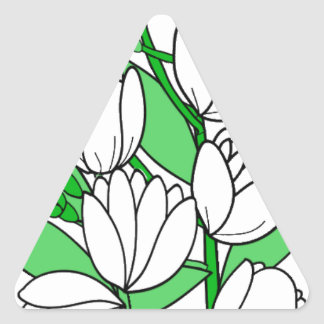 Sticker Triangulaire Fleur de jasmin